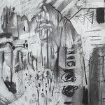 Charcoal on paper40x80cm SOLD