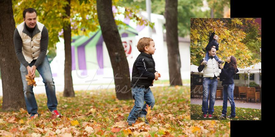 Фотокнига по мотивам семейной фотосъемки в саду Эрмитаж. Фотограф Ирина Марьенко.