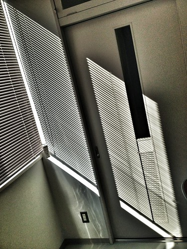Sunlight through a Venetian blind