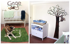furniture, changing table, room, bed, nursery,