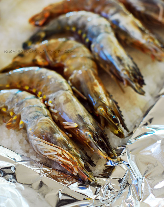 salt-roasted shrimps