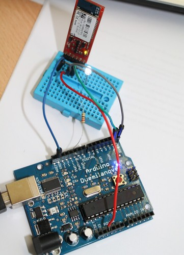 Amarino project arduino and android based light sensor