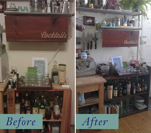 Before / After home bar