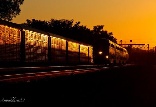 railroad sunset trains amtrak passenger glint capitolcorridor daviscalifornia calp amtrakcalifornia upmartinezsubdivision