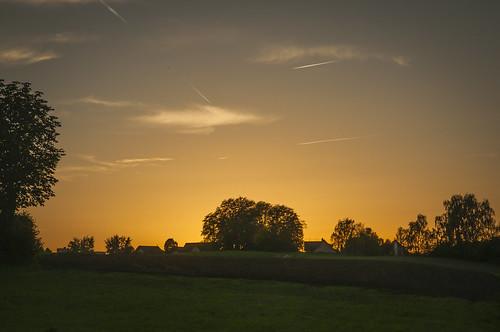 sunset sky orange sun night nikon clear hdr d90