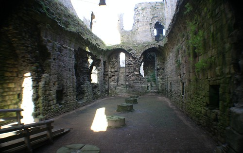 Eastern part of keep with Great Hall at first floor level.