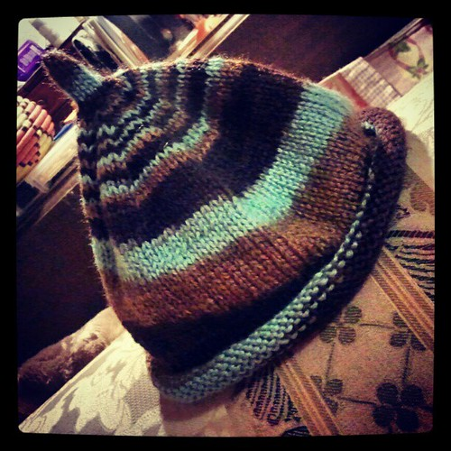 Latest #knit #baby #hat off the needles! #knitstagram #knitting #love