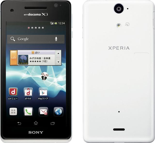 Xperia AX SO-01E 実物大の製品画像