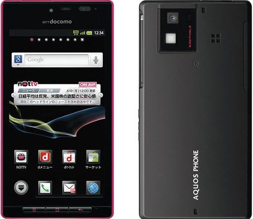 AQUOS PHONE SH-06D 実物大の製品画像
