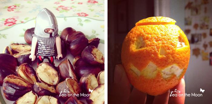 castañas y mandarinas