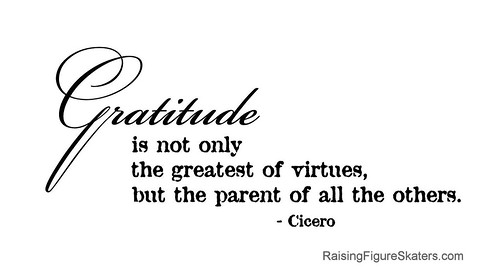 """Gratitude is not only the greatest of virtues, but the parent of all the others."" Cicero"
