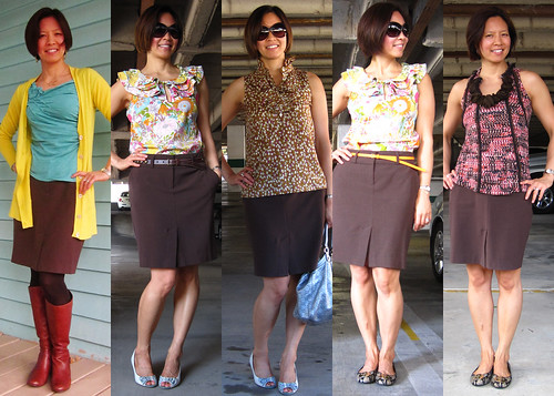 brown pencil skirt 05