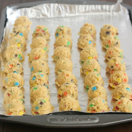 Mini M&M Pudding Cookies