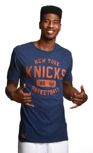 Iman Shumpert in New York Knicks ALVIN Shirt By Sportiqe Apparel