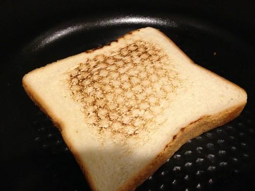 ストウブでトースト