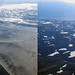 Changing landscapes on the planes yesterday by christellefv