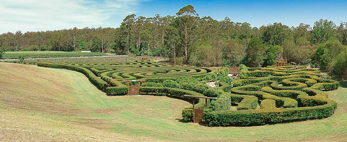 garden landscape panoramic maze
