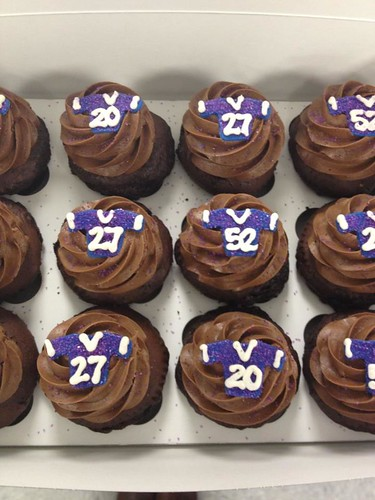 Baltimore Ravens Football Cupcakes With Adorable Tiny Purple Jersey