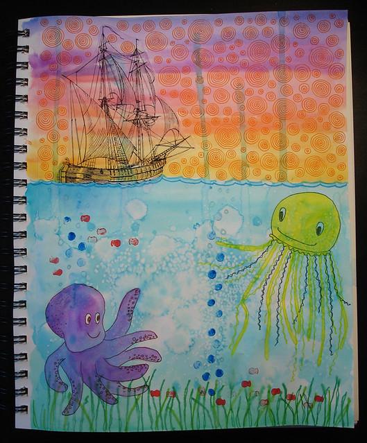 """""""Ocean"""" - Illustration Friday"""