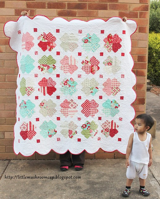 VM-I Heart Quilt - Walking Quilt Look