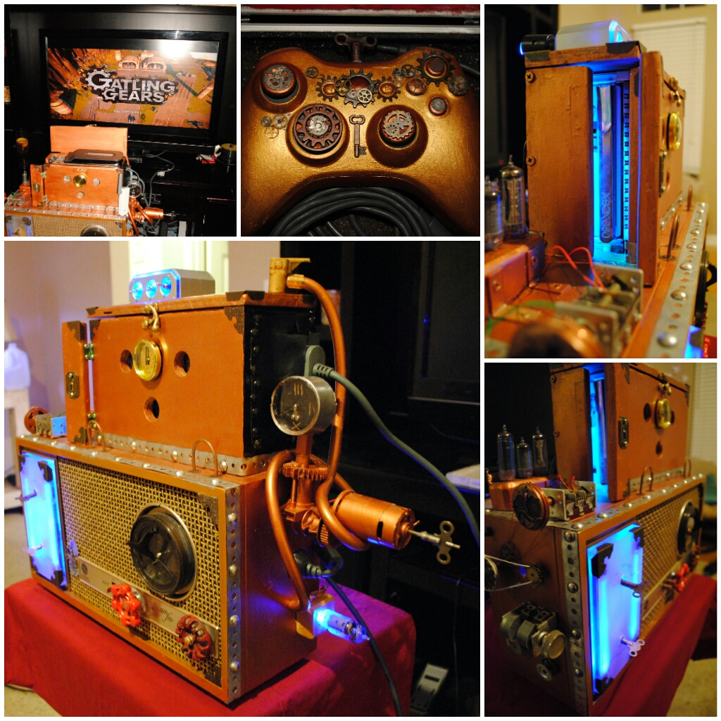 Steampunk XBox 360 + Antique GE Radio Mod