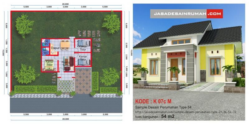 Desain Serupa & Sample Desain Perumahan Type 21 36 54 \u0026 72 @ Jasa Desain Rumah