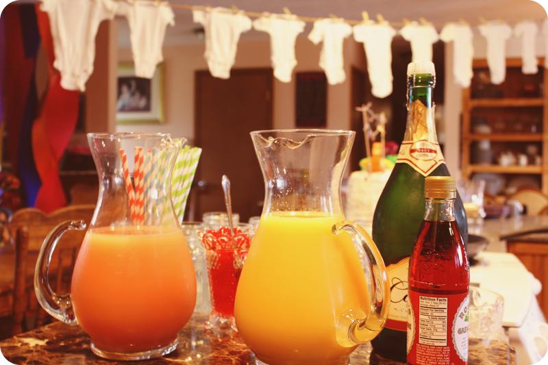 {baby shower} mimosa bar