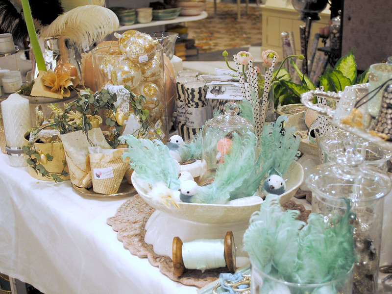 Table full of pretties at Gronbergs Interior