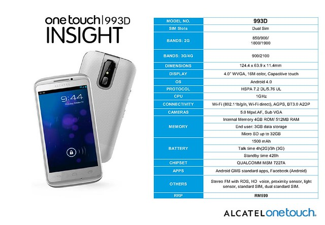 Alcatel One Touch series - phones, tablets range in Malaysia