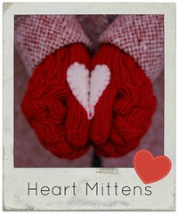 how to make heart mittens valentines
