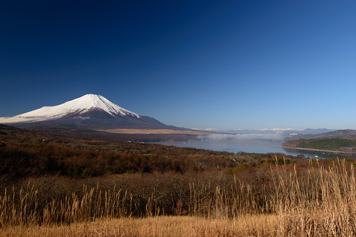 panorama mountain fuji 日本 山梨県 南都留郡 lakeyamanakako