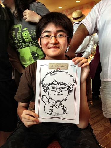 caricature live sketching for Au Chocolat Opening - Day 2 - 18