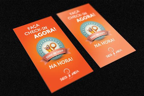 Cartão checkin - Seis & Meia by chambe.com.br