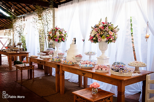 decoracao alternativa e barata para casamento:Decoração de Casamento Rústico Romantico