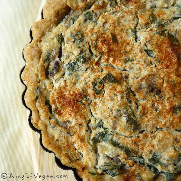 Spinach-Mushroom Quiche