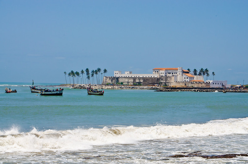 Elmina Castle from afar