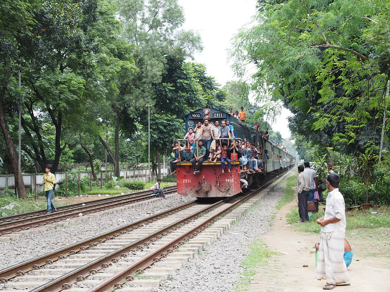 Locomotive full of fare cheating people, Bangladesh Railway