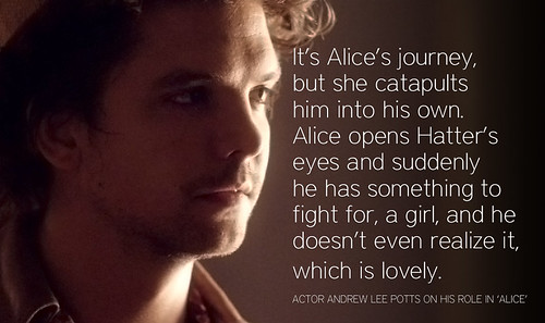 Andrew Lee Potts quote on Syfy's Alice