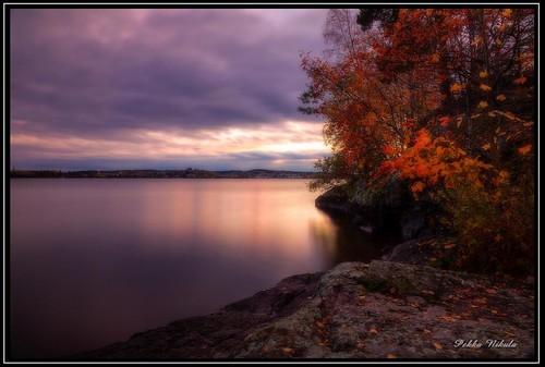 autumn lake water finland evening autumncolors tampere pyynikki syksy pyhäjärvi