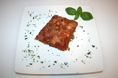 58 - Spinat-Ricotta-Cannelloni - / Spinach ricotta cannelloni - Serviert