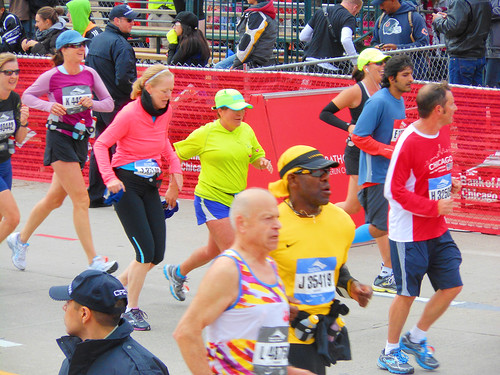 running in the 2012 chicago marathon! X.