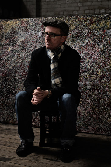 Intimate portrait, Adrian McDonald artist - Photographed by Kent Johnson.