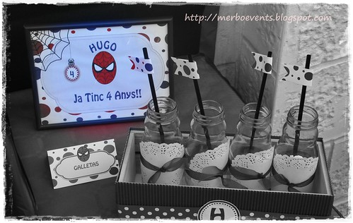 Lámina creativa. Kit de fiesta spiderman. Merbo events