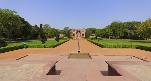 garden view, Humayun's tomb