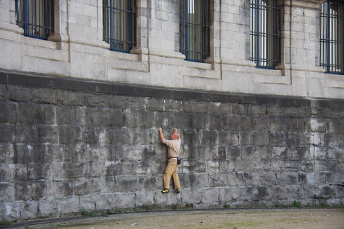 Guy Climbing on Museum