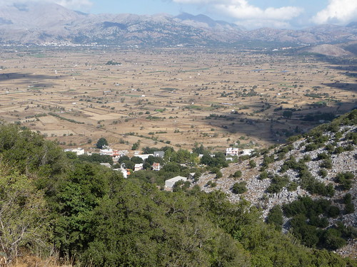 view from Zeus's Cave, Lassithi Plateau, Crete, October 2012