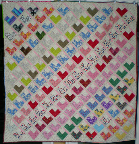 "60"" sq Brenna's Heart by Lindahoo"