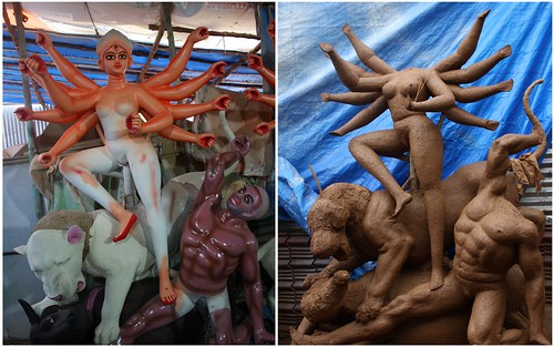 Before and After Durga Idol 5