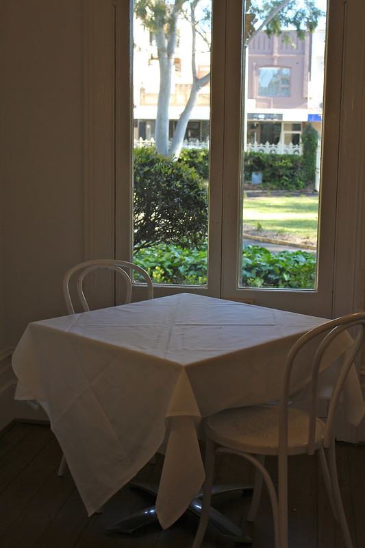 Table setting by a window