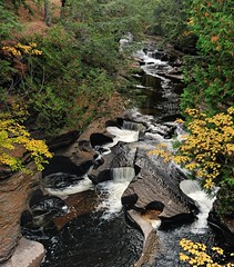 Presque Isle river (Potholes) Porcupine Mountains State Park by Michigan Nut